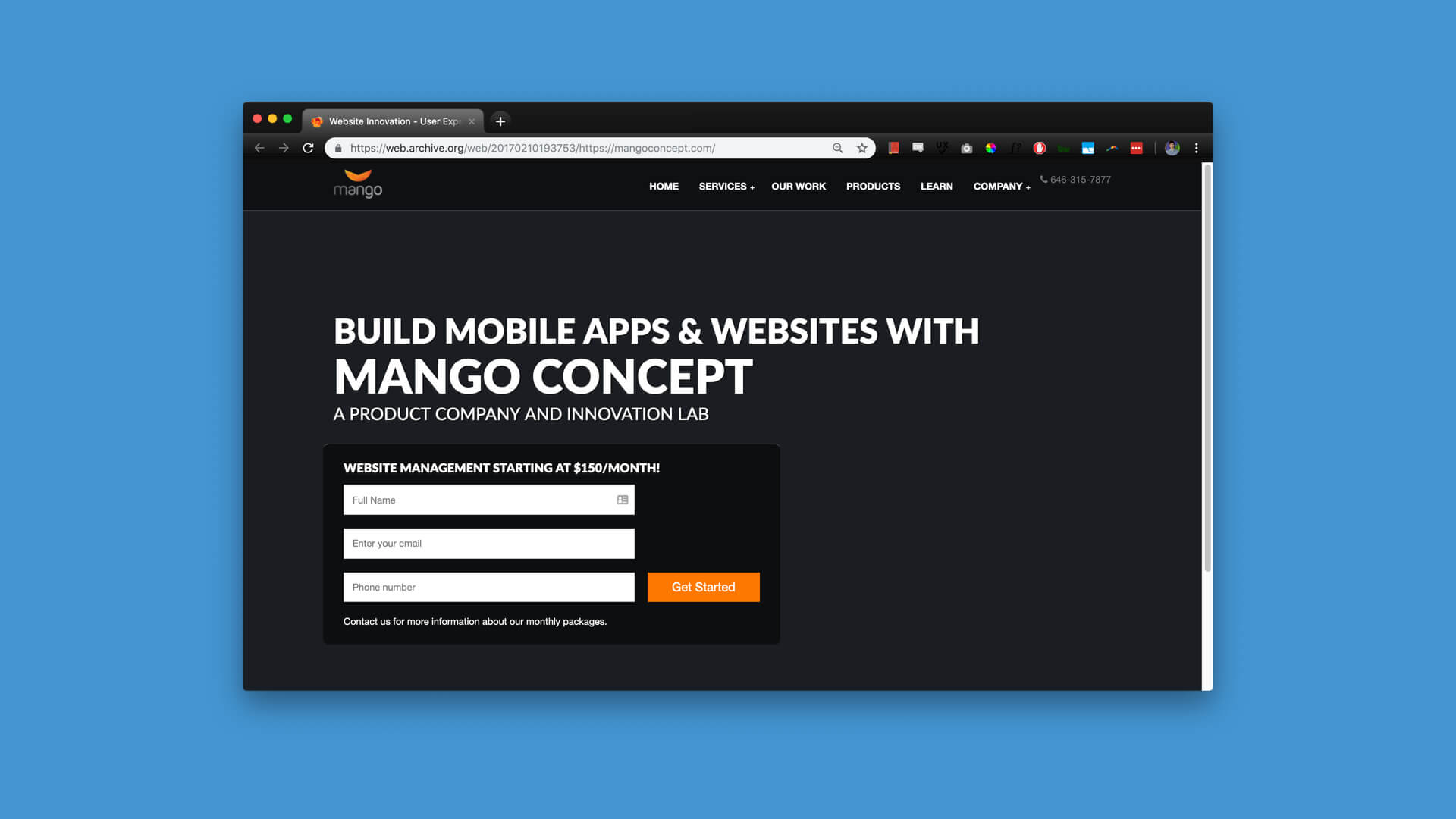 Old-Mango-Website